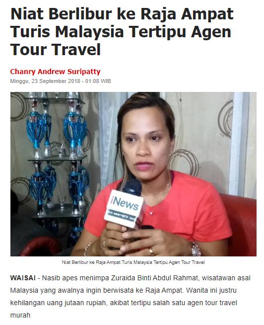 Paket Tour Raja Ampat Penipuan